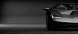 Generic czarny samochód sportowy (z grunge nak? Adki), reflektory szczegó? Owo - 3d ilustracji