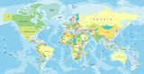 World Map Vector. Detailed illustration of worldmap - 163286952