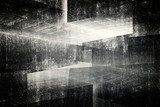 3d abstract concrete interior background