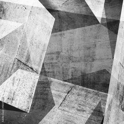 Fototapeta 3d concrete background, intersected walls