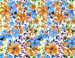 Seamless flower pattern - 163302188