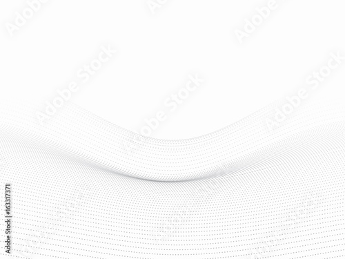 Dots wave white 3d background