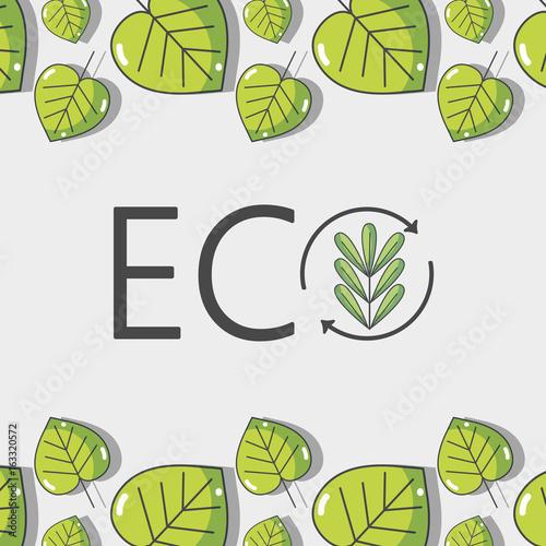 ecology leaves background decoration design