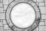 marble wall with round design background