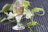 Glass of white wine - 163334526