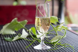 Glass of white wine - 163335118