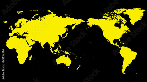 Aluminium Wereldkaarten World map Vector