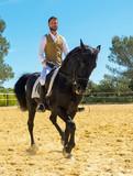 training of riding man - 163336767