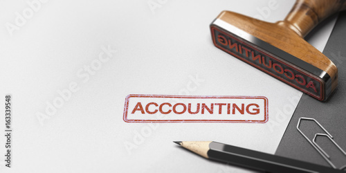 Accountant Rubber Stamp With The Word Accounting on a Paper Sheet