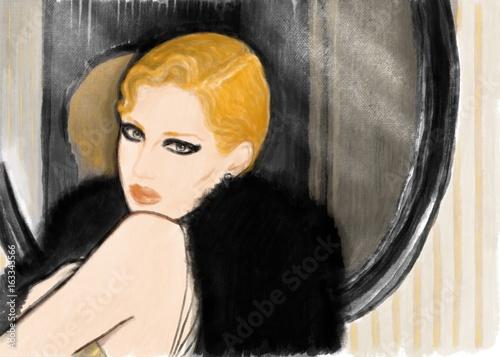 fashion illustration - 163343566