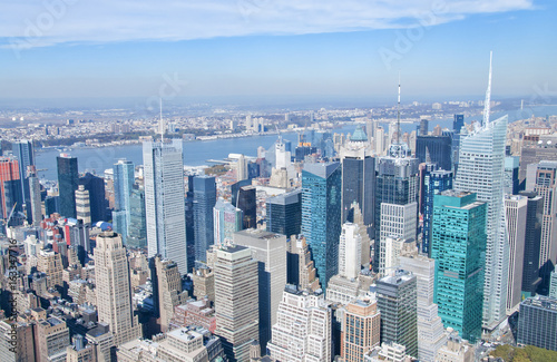 New York City skyscrapers from above