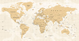 World Map Vintage Vector. Detailed illustration of worldmap - 163349178