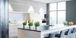 Cucina nuova moderna, arredamento casa, 3d render - 163350177