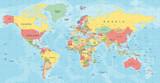 World Map Vector. Detailed illustration of worldmap - 163350535