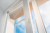 Open window. PVC plastic. - 163353729
