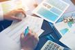 Accountant checking financial data. Accounting concept.