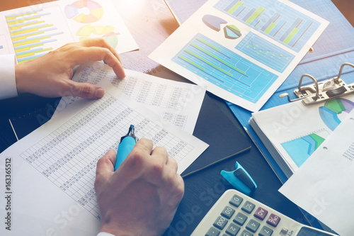 Accountant checking financial data. Accounting concept. © designer491