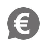 Graue Sprechblase rund - Euro Währung - 163367972
