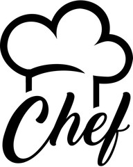 Chef hat with chef word