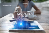 Marketing business concept on the virtual screen. - 163382700
