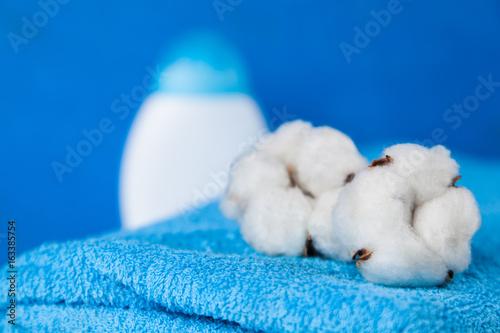 Soft blue towels