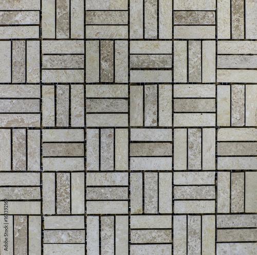 Texture of dark mosaic tiles