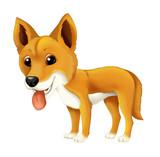 cartoon animal dingo dog illustration for children