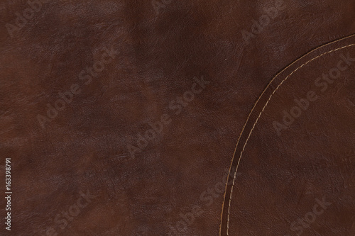 Tuinposter Stof Close up of dark leather texture background surface