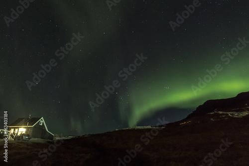 Northern Lights in Hraunsnef, Iceland
