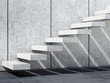 Abstract white interior background, stairs 3d