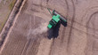 agriculture machine harvesting, Aerial view