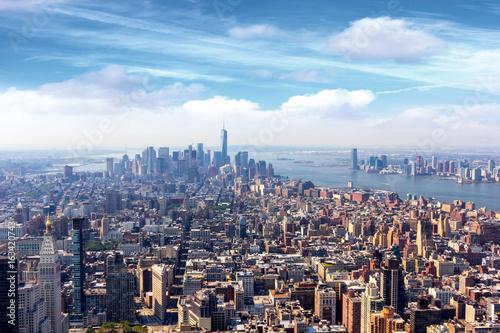 Manhattan air view Poster
