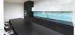 Black and white kitchen. Glass splashback - 163424383