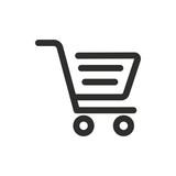 Shopping basket vector icon. - 163427943