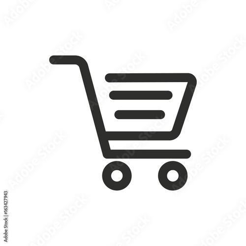 Shopping basket vector icon.