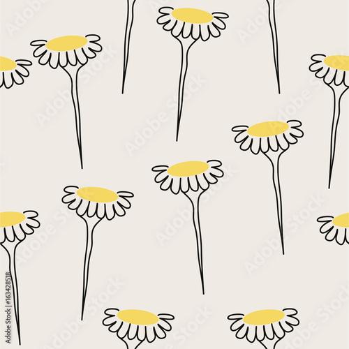yellow flower pattern - 163428518