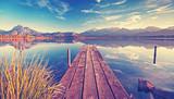 Medytacja - cisza i spokój nad jeziorem
