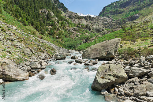 Mountain river in the Alps