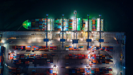 container in import export and business logistic.