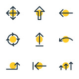 Vector Illustration Of 9 Sign Icons. Editable Pack Of Up, Left, Tab And Other Elements. - 163442741