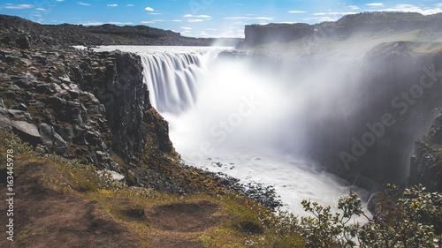 Dettifoss waterfall long exposure