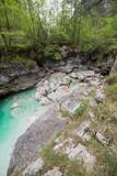 Waterfalls. Crystalline water. Mountain creek. Chiusaforte, Friuli