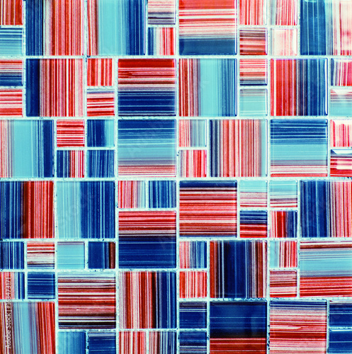 Fototapeta Texture of colored glossy mosaic tile