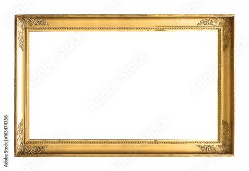 Złota ramka na obrazy, lustra lub zdjęcia