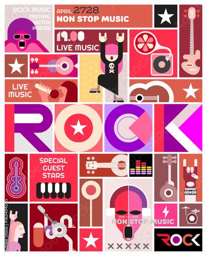 Plexiglas Abstractie Art Rock Concert poster template design