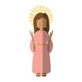 Virgin mary cartoon icon vector illustration graphic design - 163523972