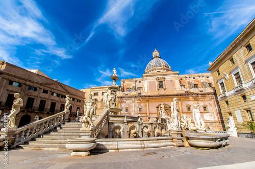 Praetoria Fountain in Palermo, Italy
