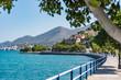 Elounda coast of Crete island in Greece