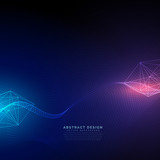 abstract technology background with light effect vector - 163547546