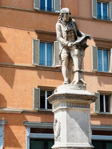 Galvani statue Bologna Italy Poster